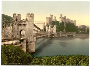 Castle_and_suspension_bridge,_Conway_(i.e._Conwy),_Wales-LCCN2001703465