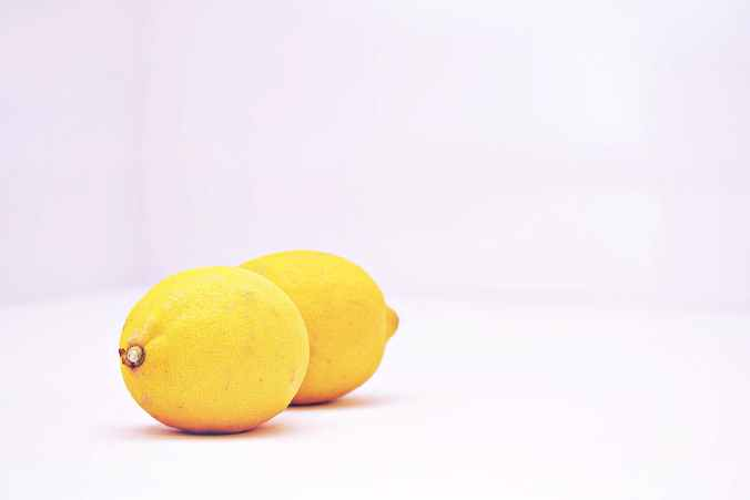 two lemon fruits