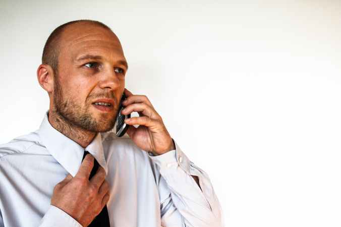 businessman office mobile phone finance