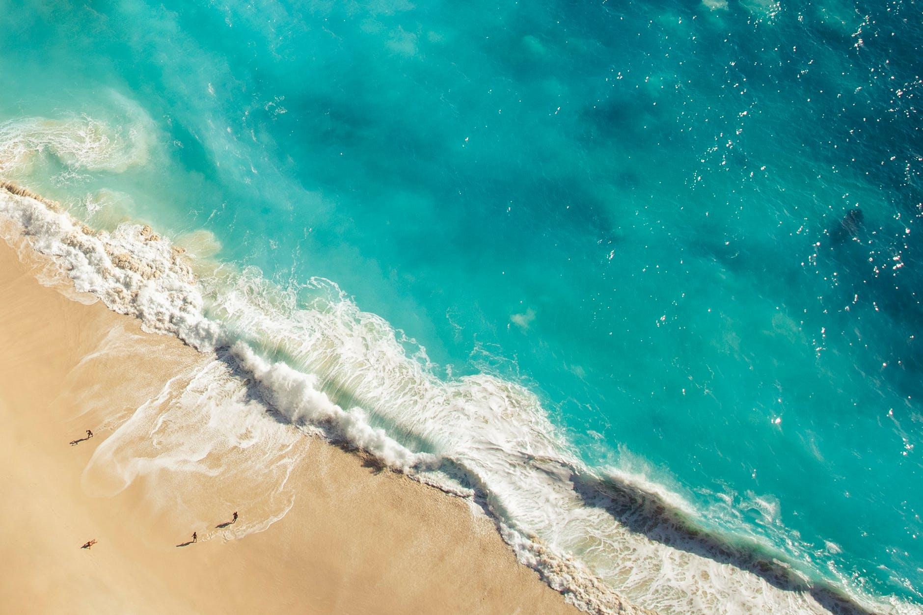 bird s eye view of ocean during daytime