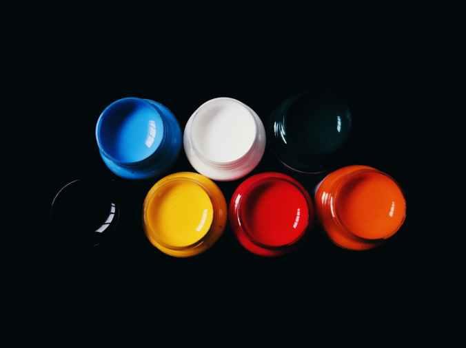 assorted color paints
